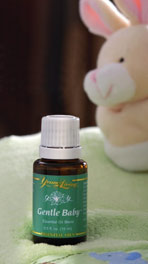gentle baby oil with bunny